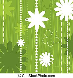 Flower structure - Two flowers on a beige background A...