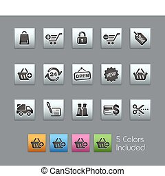Shopping SatinBox - The EPS file includes 5 color versions...
