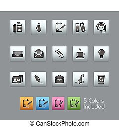 Office and Business SatinBox - The EPS file includes 5 color...