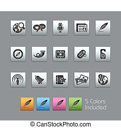 Social Media SatinBox - The EPS file includes 5 color...