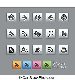 Web Navigation SatinBox - The EPS file includes 5 color...