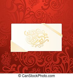 vector greeting card on seamless background