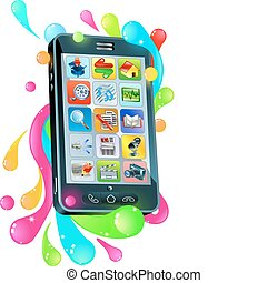 Funky mobile phone jelly bubble concept