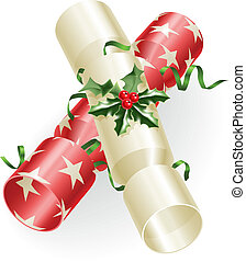 Christmas crackers - An illustration of Christmas crackers...