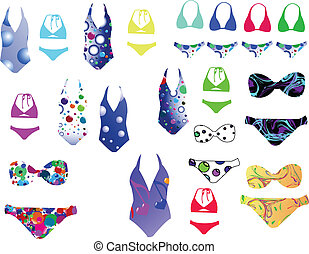 Bikini collection - vector