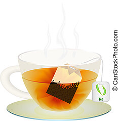 A cup of tea for your design. Vector illustration