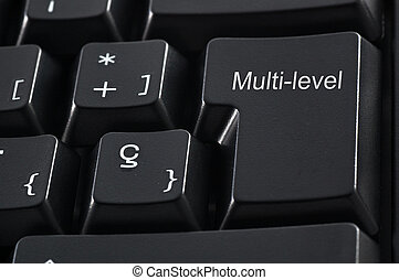 Multi-level Marketing keaboard - Black keyboard with the...
