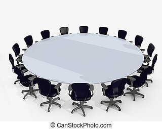 conference table surrounded by chairs
