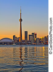 Toronto city view - Toronto city sunset view from center...