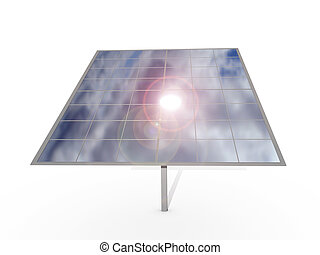 Photovoltaic Panel over white background