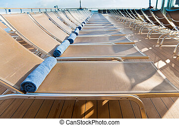outdoor relaxation area on cruise liner - outdoor relaxation...