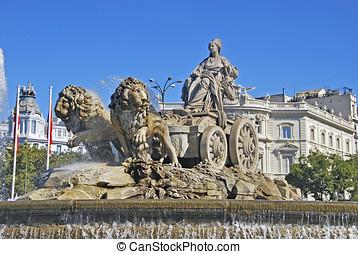 Fountain of Cibeles - Cibeles fountain. Plaza de Cibeles,...