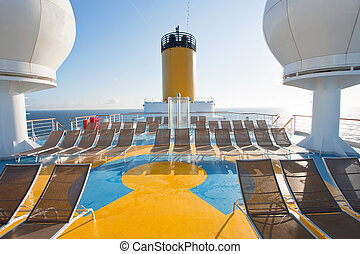 relaxation area on upper deck of liner - relaxation area on...