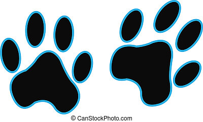 Black paw printer logo