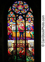 Stained-glass window, Votiv Kirche, Vienna