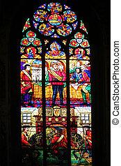 Stained-glass window, Votiv Kirche, Vienna