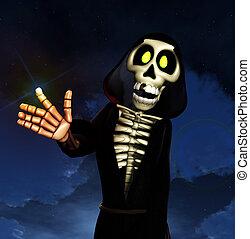 Cartoon Grim Reaper - The Grim reaper of death in cartoon...