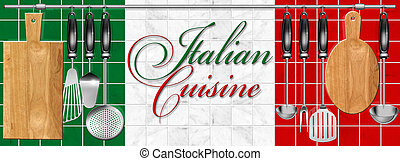 Italian cuisine set Kitchen utensil - Kitchen utensils...