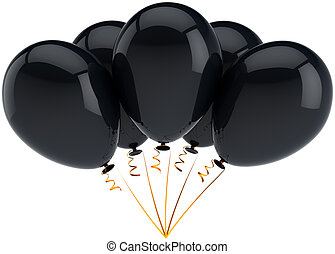 Black party birthday balloons five - Party balloons five...