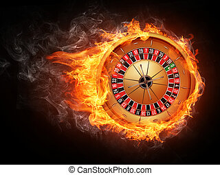 Casino Roulette Isolated on White Background Vector EPS8