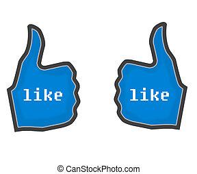 Thumbs Up LIKE blue 2