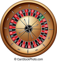 Roulette Isolated on White Background Vector EPS8