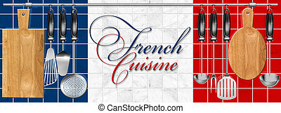 French cuisine set Kitchen utensils