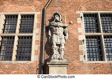 Cossack Statue - Cossack statue on the Great Armory facade...