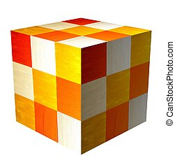 cube - A cube made of  checkered surfaces
