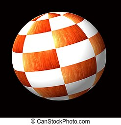 ball - A ball made of  checkered surfaces