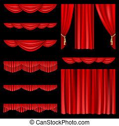 rouges, rideaux