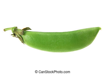 Sugar Snap Pea on White Background