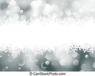 Christmas abstract bokeh card. EPS 8 - Abstract Winter...