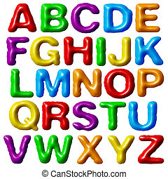 Plasticine alphabet. - Plasticine alphabet isolated on white...