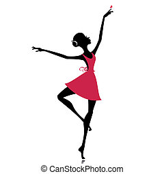 graceful dancer with a butterfly