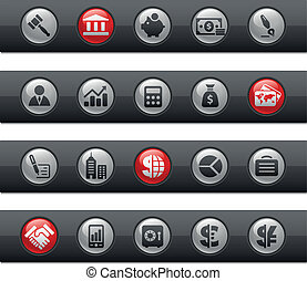 Business and Finance Buttonbar - Vector icons for your...