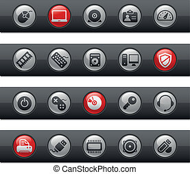 Computer and Devices Buttonbar - Vector icons for your...