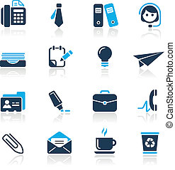 Office and Business Azure - Vector icons for your website or...