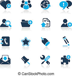 Blog and Internet Azure - Vector icons for your website or...
