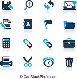 Web Interface Azure - Vector icons for your website or...