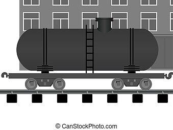 Railroad tank.