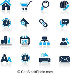Web Site and Internet Azure - Vector icons for your website...
