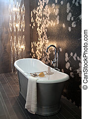 classic bathroom - interior of bath room with modern light
