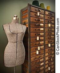 decorative dummy - dummy for modeling design of woman dress