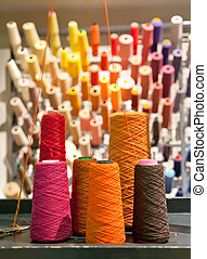 industrial textile threads with multi - colors background