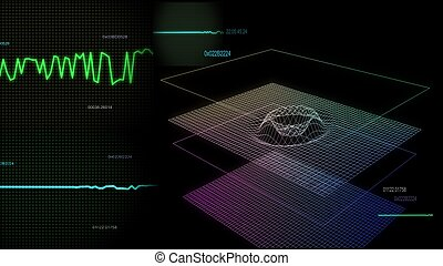 audio graph multiple screen 02 - audio wave simulation use...