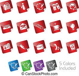 Office and Business Stickers - The eps file includes 5...