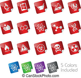 Science / Stickers - The .eps file includes 5 buttons states...