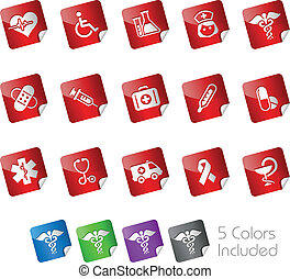 Medicine and Heath Care Stickers - The eps file includes 5...