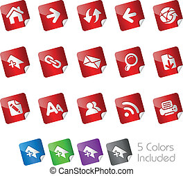 Web Navigation Stickers - The eps file includes 5 buttons...